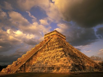 Mayan Pyramid Ruin in Chichen Itza, Mexico