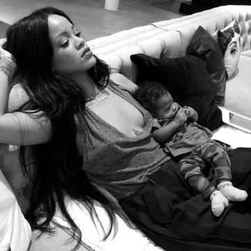 Rihanna and Baby